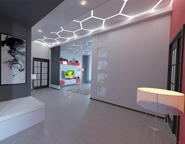 Потолок световые линии купить в Киеве