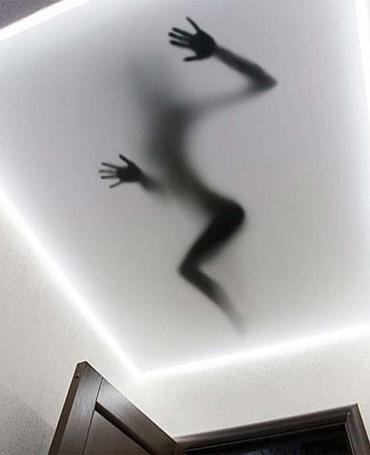 3д объемный потолок тень